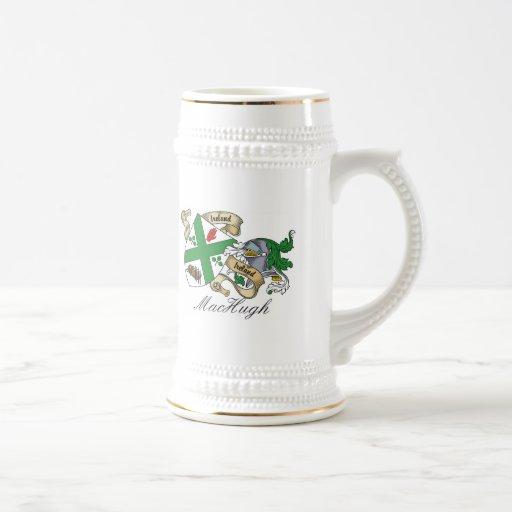 Escudo de la familia de MacHugh Taza De Café