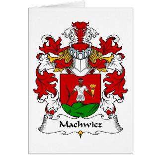 Escudo de la familia de Machwicz Tarjeta De Felicitación