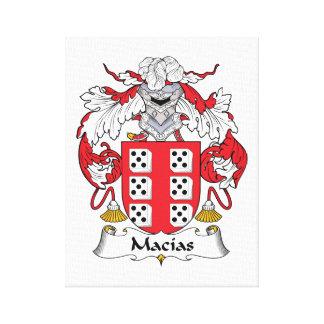 Escudo de la familia de Macias Impresión En Lienzo