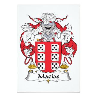 """Escudo de la familia de Macias Invitación 5"""" X 7"""""""