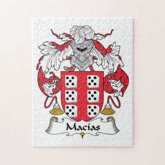 Escudo de la familia de Macias Puzzle
