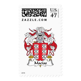 Escudo de la familia de Macias Sello Postal