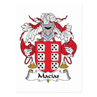 Escudo de la familia de Macias Tarjeta Postal