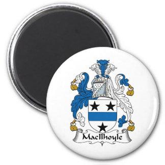 Escudo de la familia de MacIlhoyle Imanes De Nevera