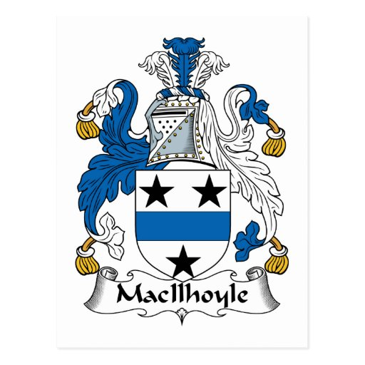Escudo de la familia de MacIlhoyle Postal