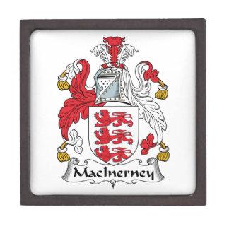 Escudo de la familia de MacInerney Cajas De Joyas De Calidad