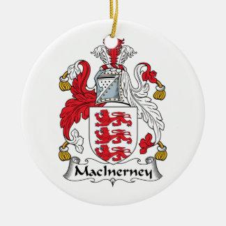 Escudo de la familia de MacInerney Adorno Redondo De Cerámica