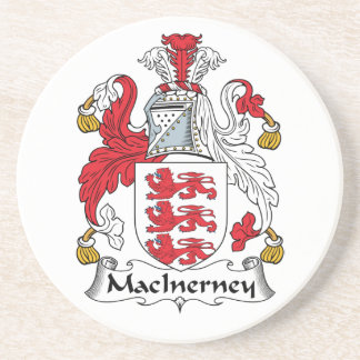 Escudo de la familia de MacInerney Posavasos Manualidades
