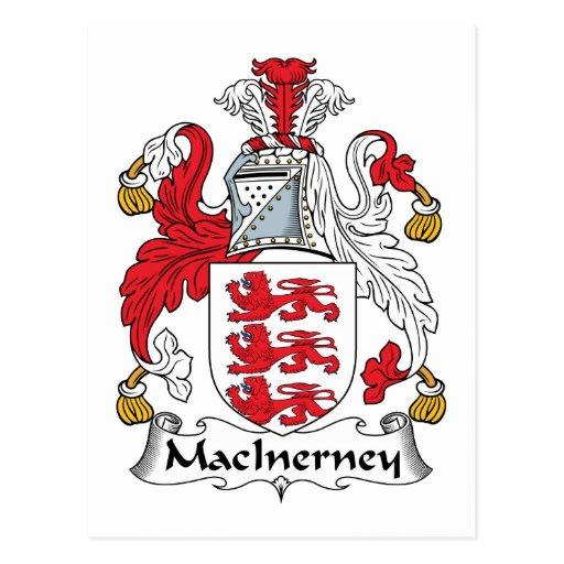 Escudo de la familia de MacInerney Postal