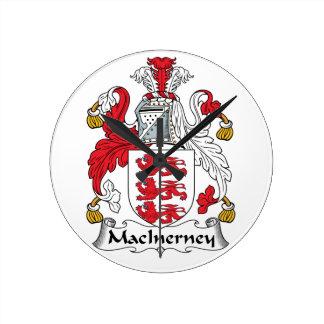 Escudo de la familia de MacInerney Reloj Redondo Mediano