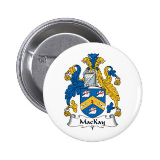 Escudo de la familia de MacKay Pin Redondo De 2 Pulgadas