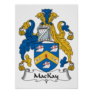 Escudo de la familia de MacKay Póster