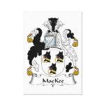 Escudo de la familia de MacKee Impresion En Lona