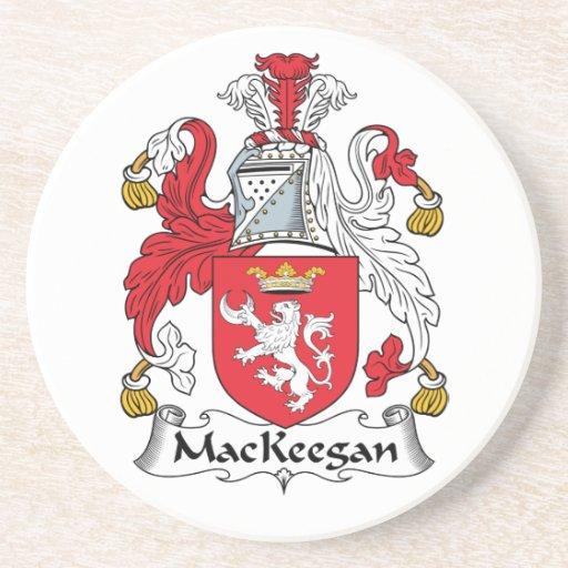 Escudo de la familia de MacKeegan Posavasos Cerveza