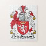 Escudo de la familia de MacKeegan Rompecabeza Con Fotos