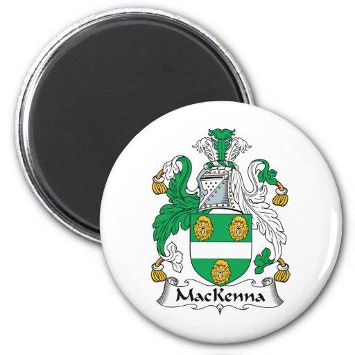 Escudo de la familia de MacKenna Imán Para Frigorífico