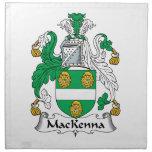 Escudo de la familia de MacKenna Servilleta Imprimida