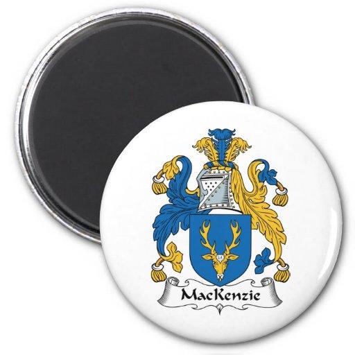Escudo de la familia de MacKenzie Imán Redondo 5 Cm