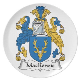 Escudo de la familia de MacKenzie Platos