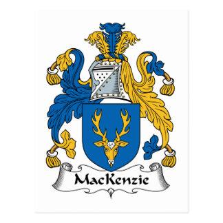 Escudo de la familia de MacKenzie Tarjetas Postales