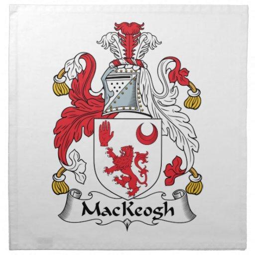 Escudo de la familia de MacKeogh Servilleta Imprimida