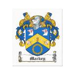 Escudo de la familia de Mackey Impresión En Lona