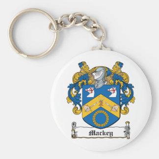 Escudo de la familia de Mackey Llavero Redondo Tipo Pin