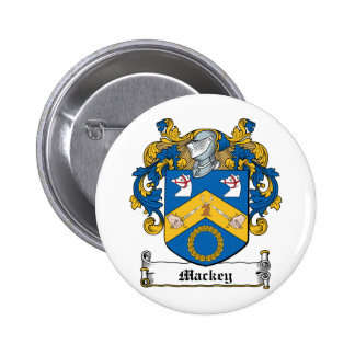 Escudo de la familia de Mackey Pin Redondo De 2 Pulgadas