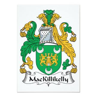 """Escudo de la familia de MacKillikelly Invitación 5"""" X 7"""""""