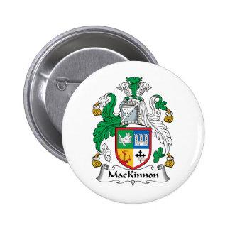 Escudo de la familia de MacKinnon Pin Redondo De 2 Pulgadas