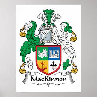 Escudo de la familia de MacKinnon Póster