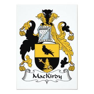 """Escudo de la familia de MacKirdy Invitación 5"""" X 7"""""""