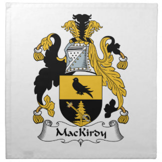 Escudo de la familia de MacKirdy Servilleta