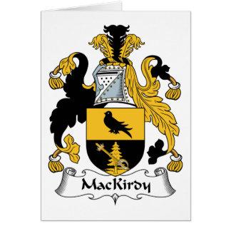 Escudo de la familia de MacKirdy Tarjeta De Felicitación