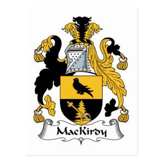 Escudo de la familia de MacKirdy Tarjetas Postales