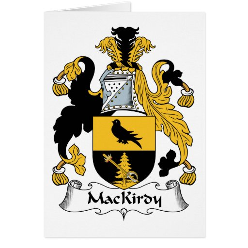 Escudo de la familia de MacKirdy Tarjetón