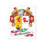 Escudo de la familia de MacLaughlin Impresión En Lienzo Estirada