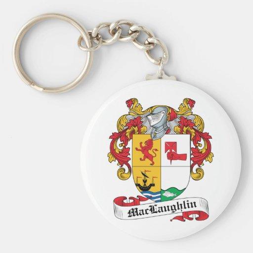 Escudo de la familia de MacLaughlin Llavero Redondo Tipo Pin