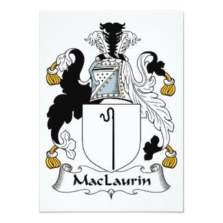 """Escudo de la familia de MacLaurin Invitación 5"""" X 7"""""""