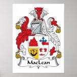 Escudo de la familia de MacLean Poster