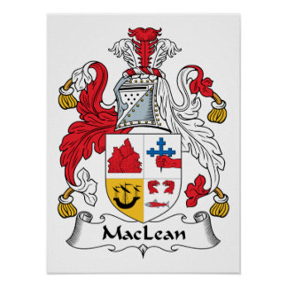 Escudo de la familia de MacLean Póster