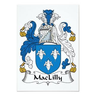 """Escudo de la familia de MacLilly Invitación 5"""" X 7"""""""