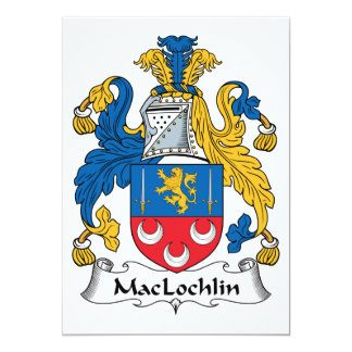 """Escudo de la familia de MacLochlin Invitación 5"""" X 7"""""""