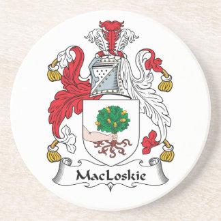 Escudo de la familia de MacLoskie Posavaso Para Bebida