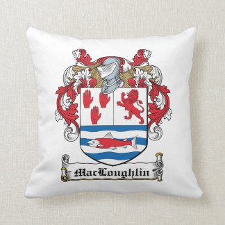 Escudo de la familia de MacLoughlin Almohada