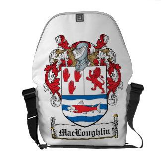 Escudo de la familia de MacLoughlin Bolsa Messenger