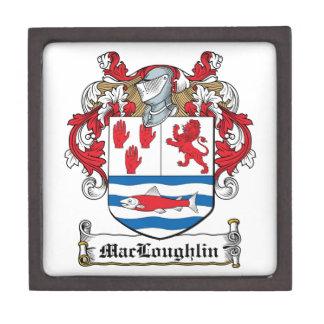 Escudo de la familia de MacLoughlin Caja De Regalo De Calidad