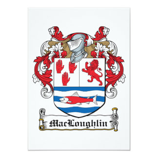 Escudo de la familia de MacLoughlin Invitación 12,7 X 17,8 Cm