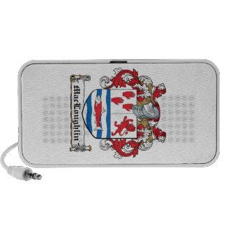 Escudo de la familia de MacLoughlin iPod Altavoz