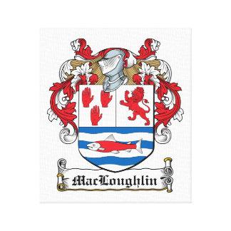 Escudo de la familia de MacLoughlin Lona Envuelta Para Galerias